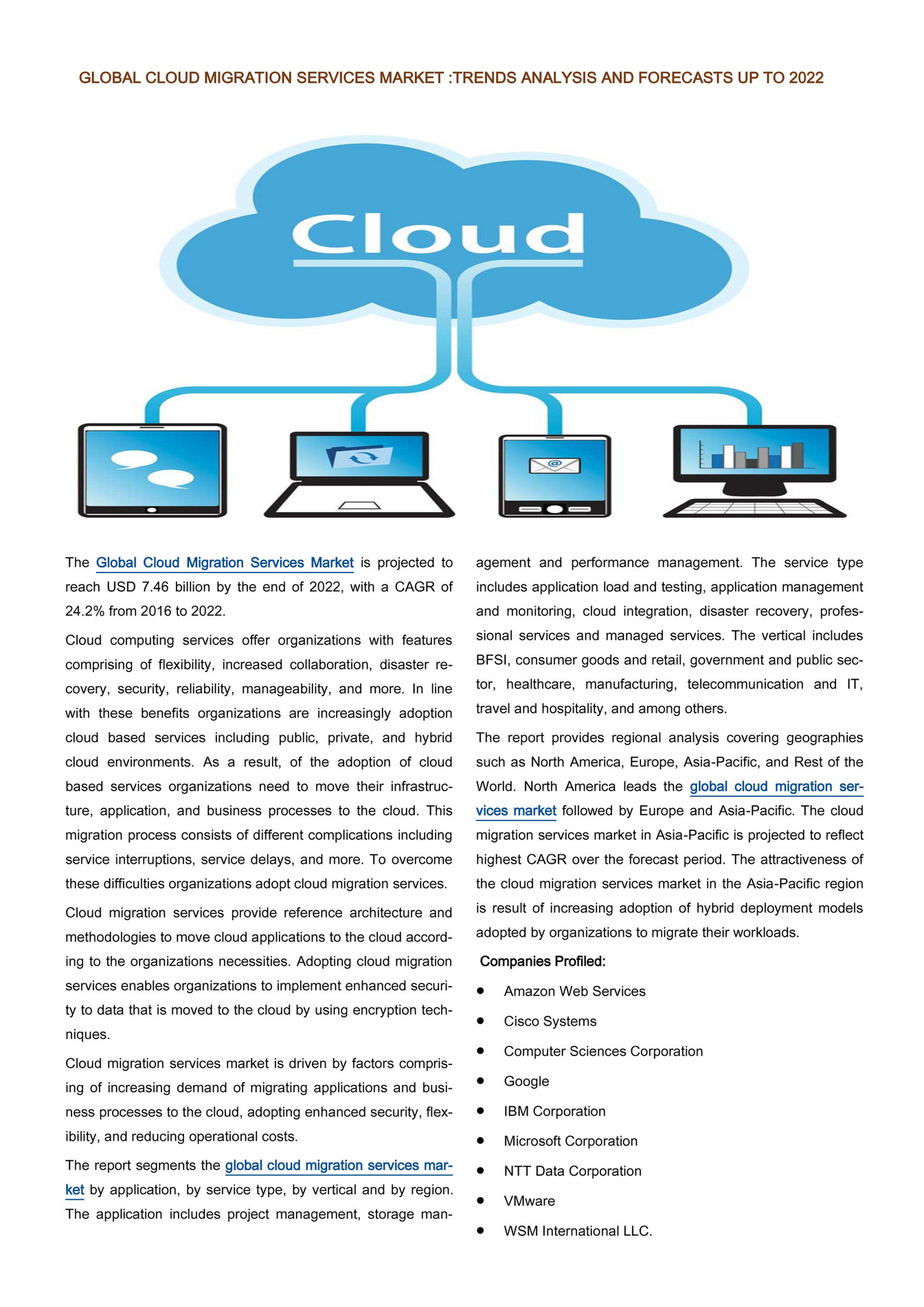 Infinium Global Research - Global Cloud Migration Services