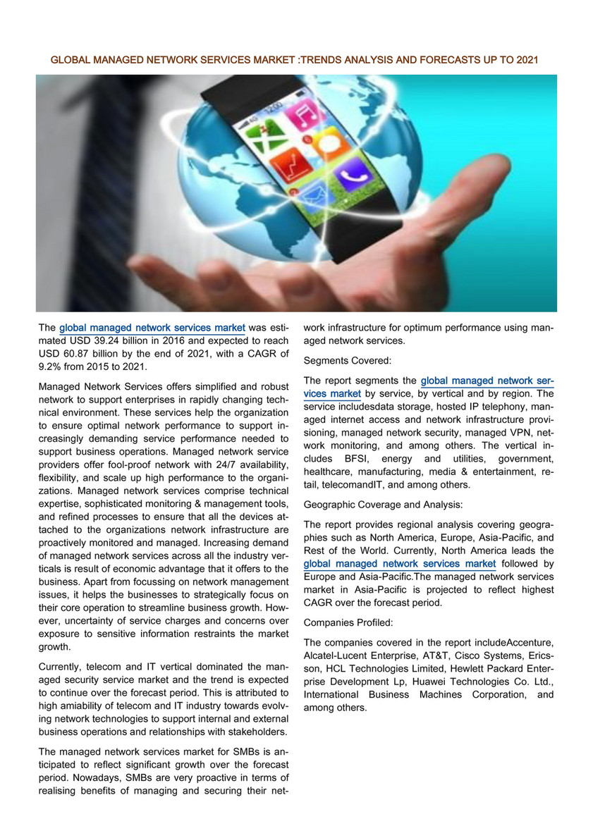 Infinium Global Research - Global Managed Network Services Market