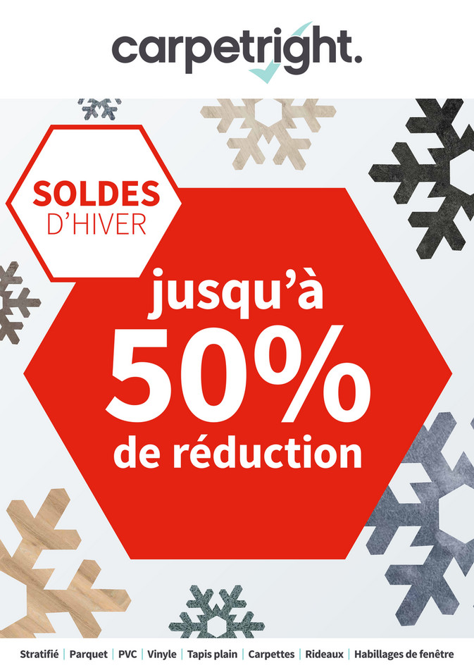 Folder Carpetright  du 03/01/2019 au 14/01/2019 - Promotions de la semaine 1