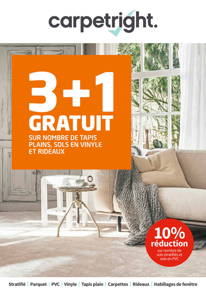 Folder Carpetright  du 16/03/2019 au 30/03/2019 - Promotions de la semaine 11