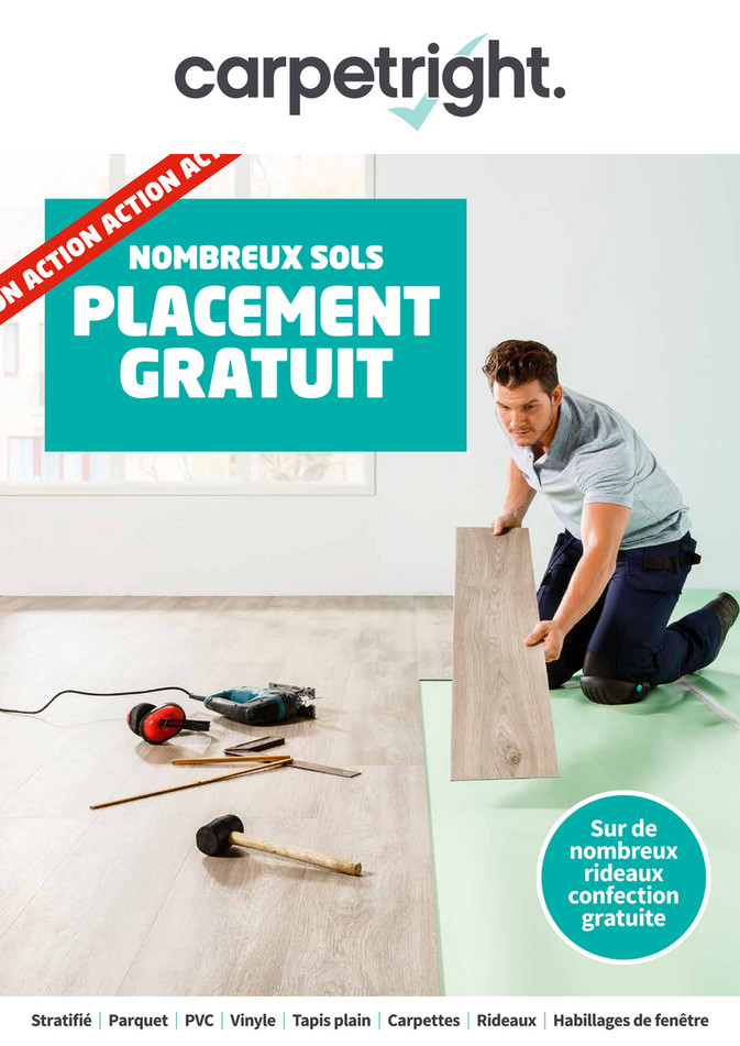 Folder Carpetright  du 11/06/2019 au 29/06/2019 - Placement gratuit
