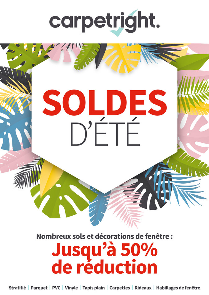 Folder Carpetright  du 01/07/2019 au 31/07/2019 - Promotions de la semaine 27