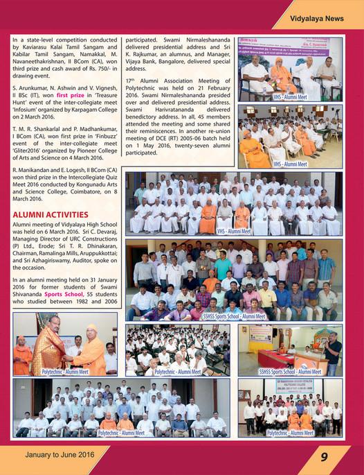 www srkv org - SRKV Newsletter - English - January to June