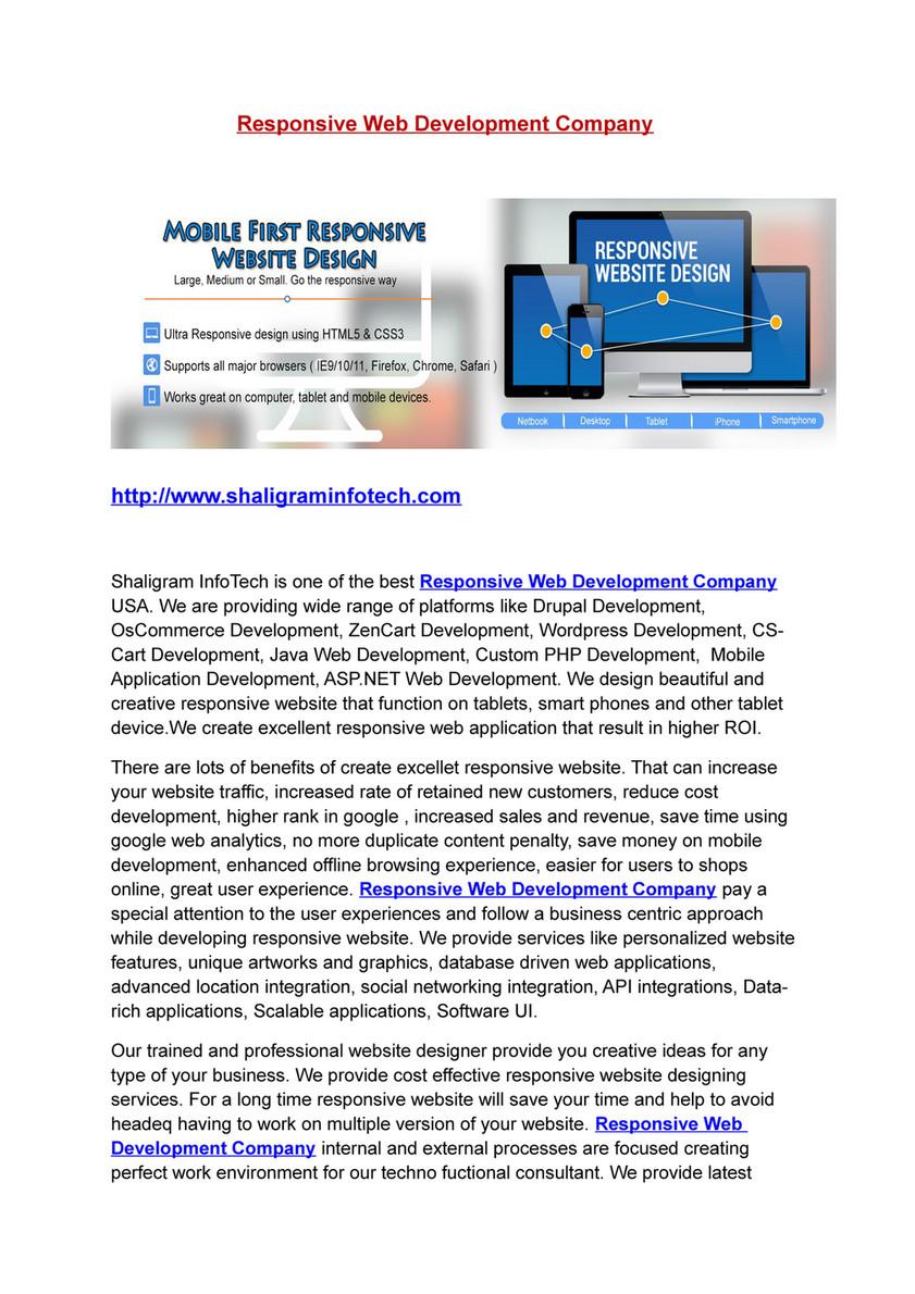 Shaligram Infotech - (800234155) Responsive Web Development