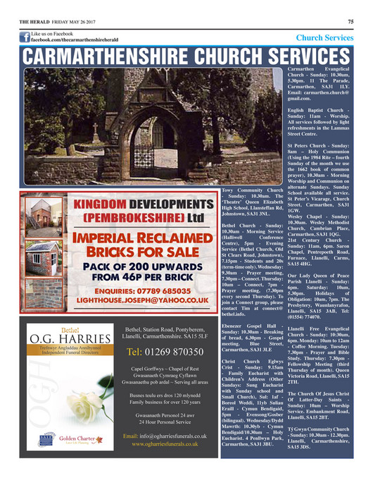 Herald Newspapers PLC - Carmarthenshire Herald (Issue 117) - Page 38