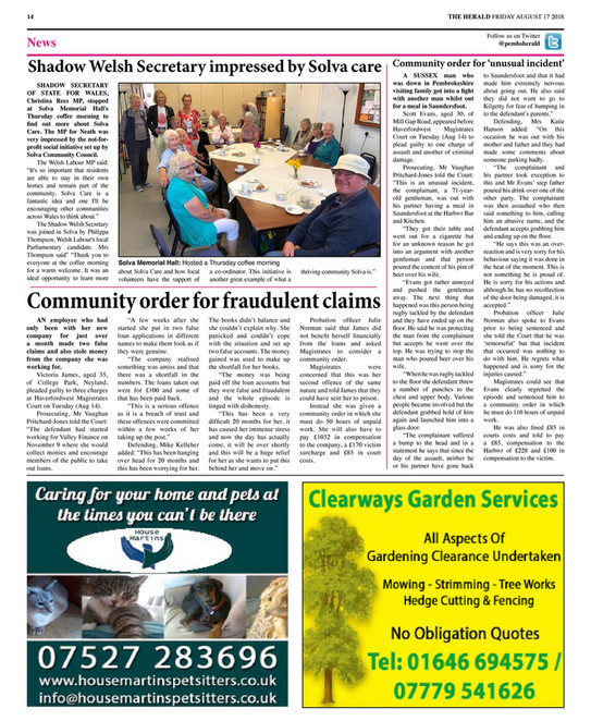 Herald Newspapers PLC - Pembrokeshire Herald (Issue 268