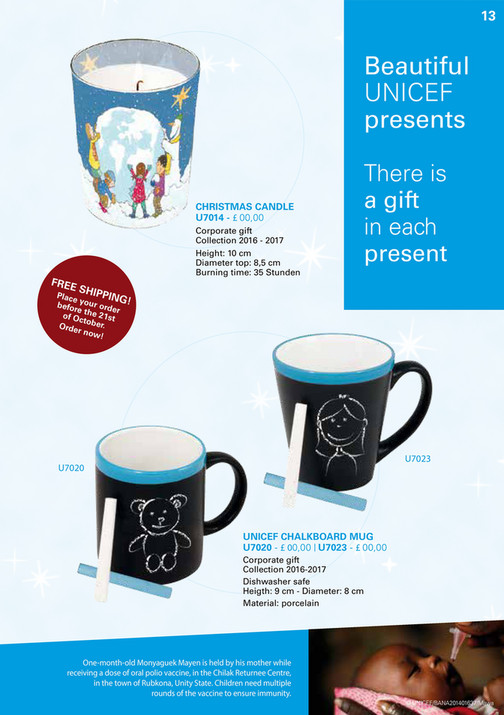 My publications - UNICEF UK Cards & Gifts B2C collection 2016 - 2017 ...