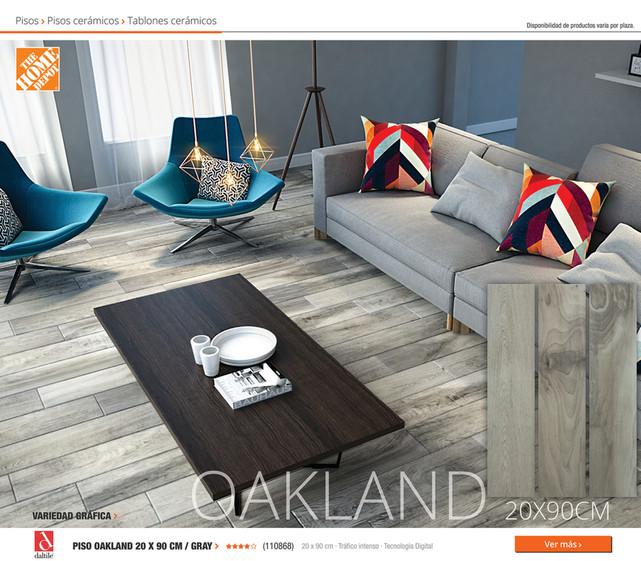 Home Depot México Catalogo Pisos PISO OAKLAND X CM GRAY - Daltile oakland