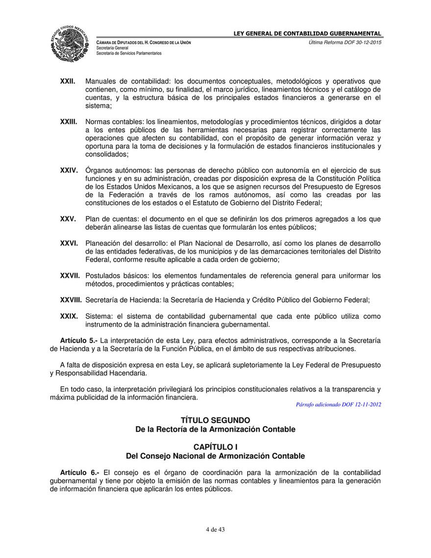Ok Ley General De Contabilidad Gubernamental Página 4 5