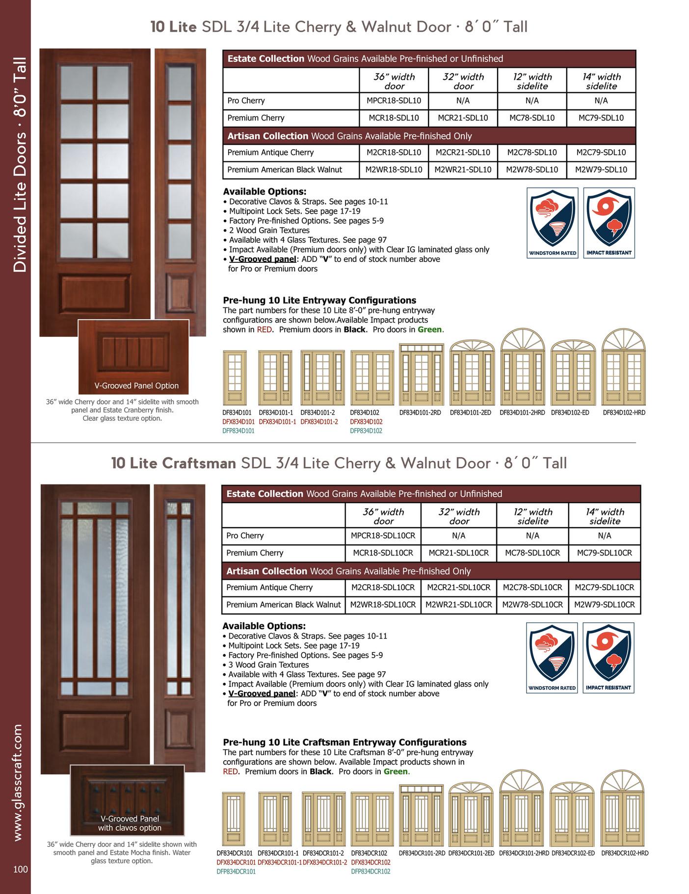 Glasscraft fiberglass catalog 2017 page 100 101 created with 4 lite sdl 23 lite knotty alder door 8 0 tall eventelaan Gallery