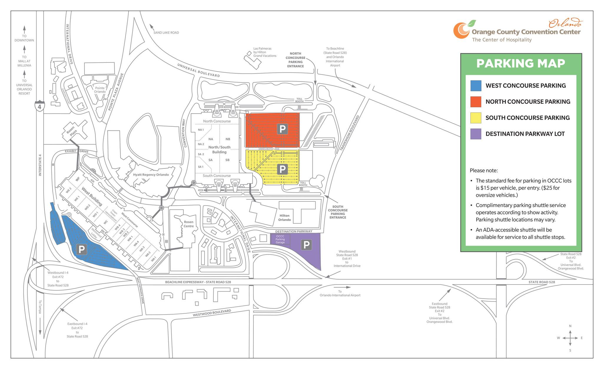 convention center orlando map Orange County Convention Center Parking Map Page 1 Created convention center orlando map