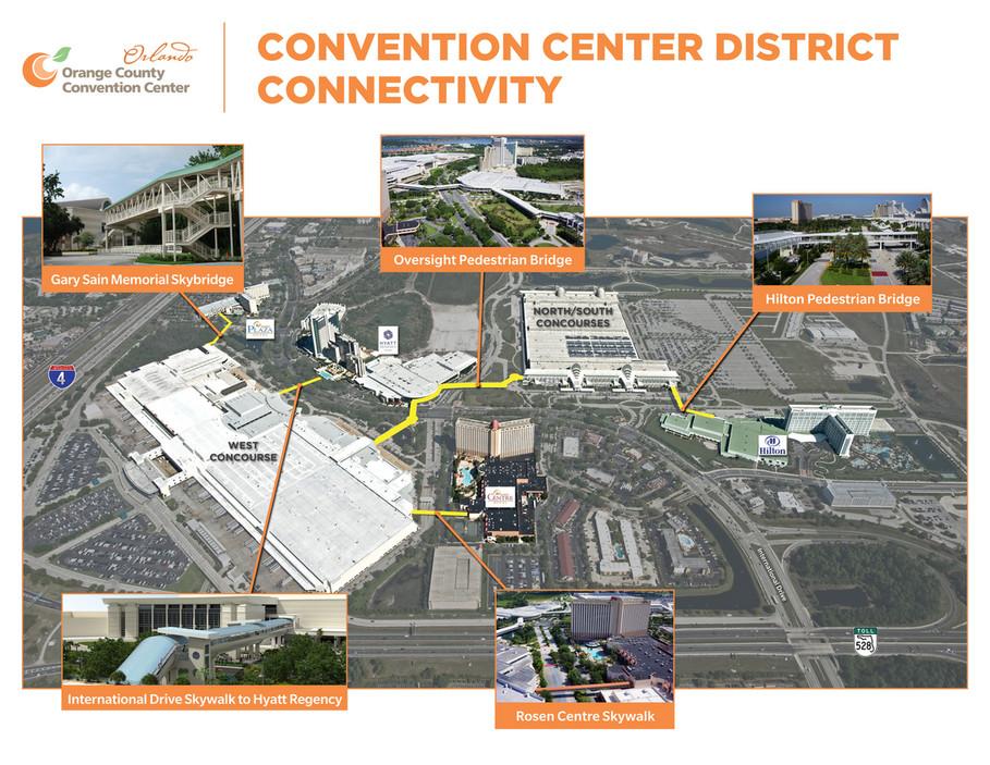 convention center orlando map Orange County Convention Center Connectivity Map Page 1 convention center orlando map
