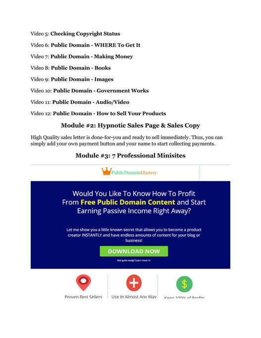 AFF - Public Domain Mastery Review & HUGE $23800 Bonuses - Page 2-3