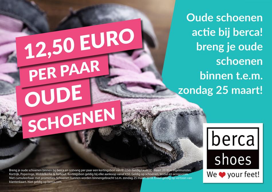 Berca Shoes folder van 23/02/2018 tot 25/03/2018 - € 12,50 per paar oude schoenen