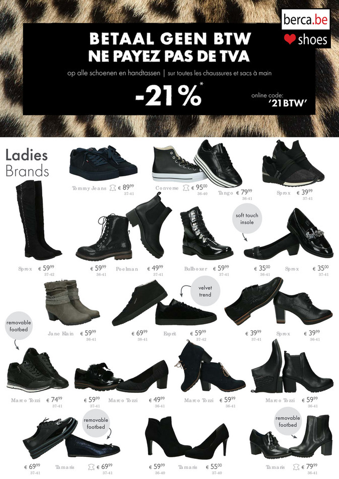 Berca Shoes folder van 01/10/2018 tot 14/10/2018 - Promoties van de week 41