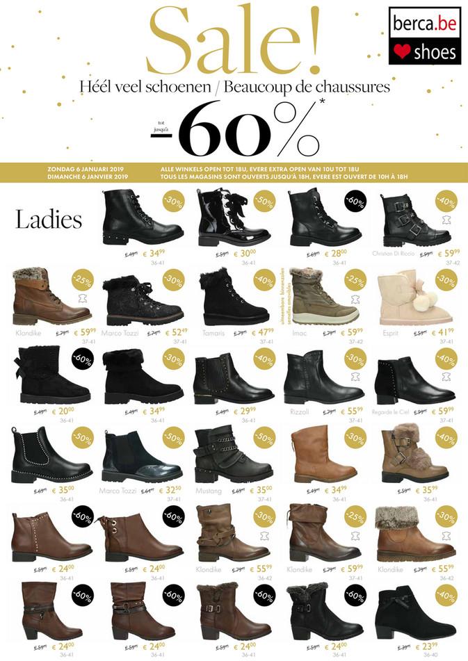 Berca Shoes folder van 03/01/2019 tot 31/01/2019 - Promoties van de week 1
