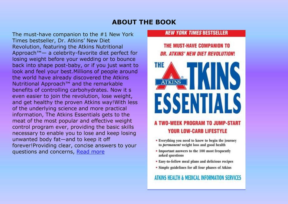Mumun Busines Best Pdf The Atkins Essentials A Twoweek Program To