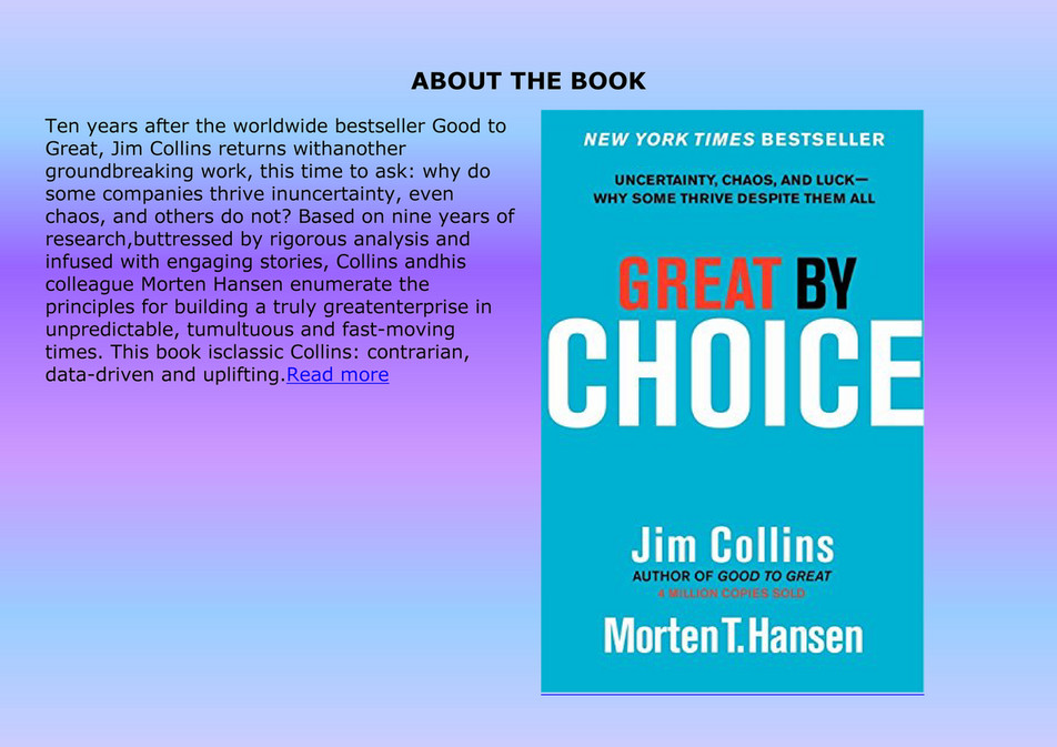 mumun busines pdf free download great by choice uncertainty chaos