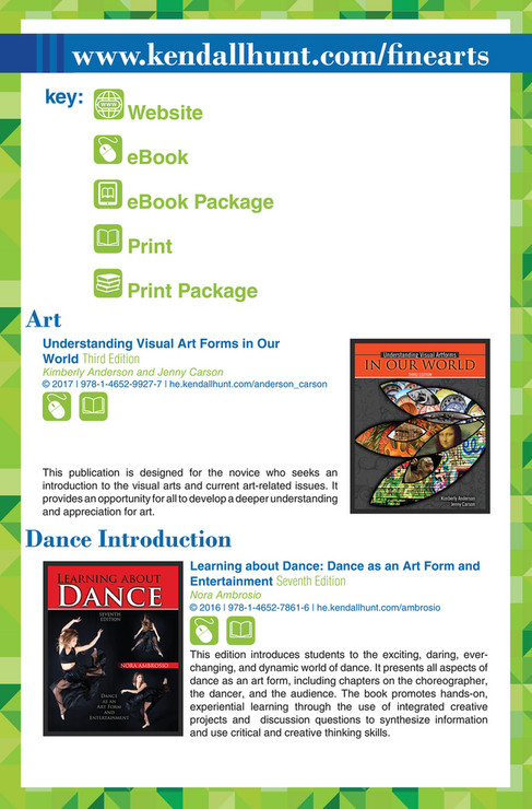 Kendall hunt publishing kendall hunts fine arts catalog page 4 open fandeluxe Images