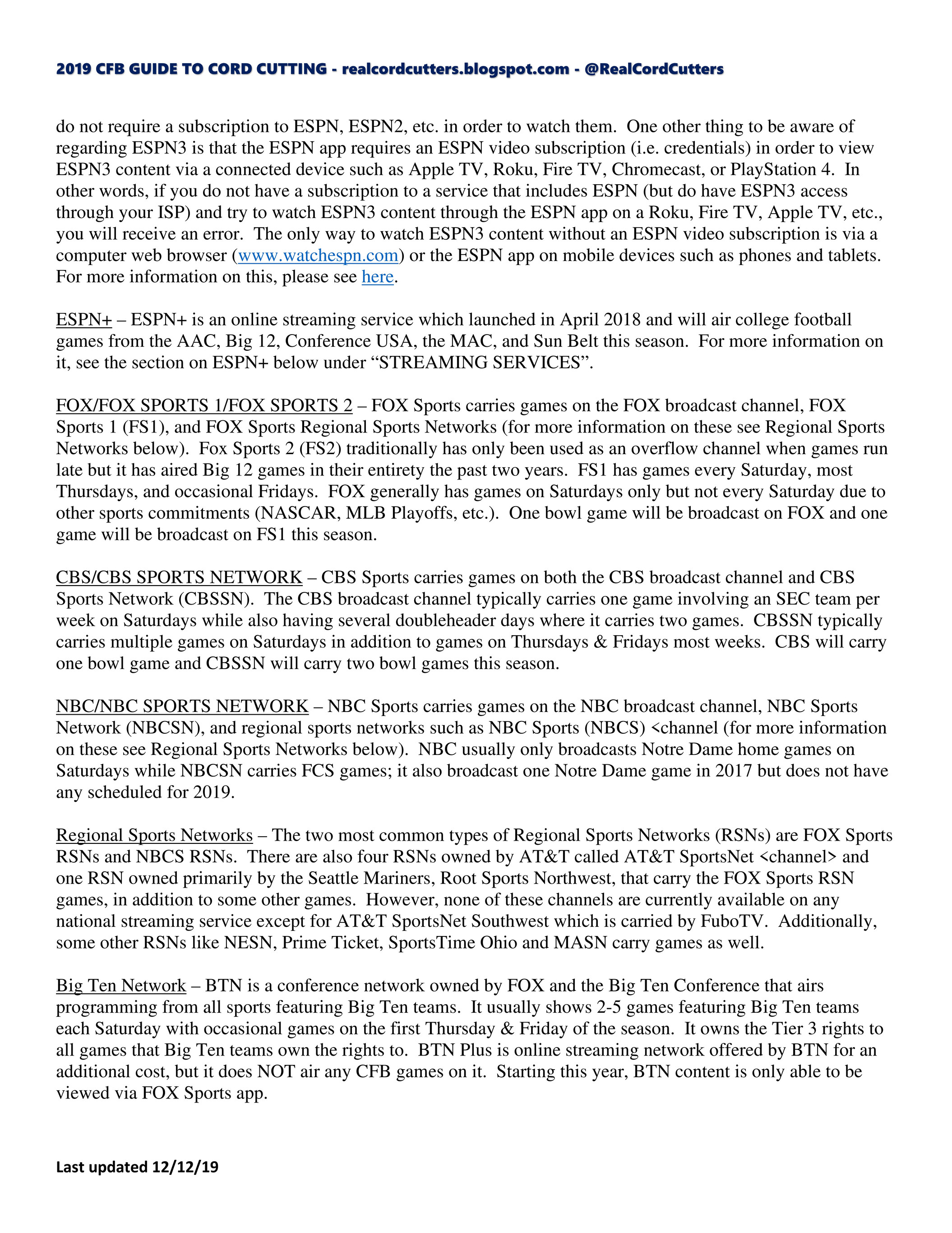 My Publications 2019 Cfb Guide To Cord Cutting Text Charts 8 18 19 Page 1 Created With Publitas Com