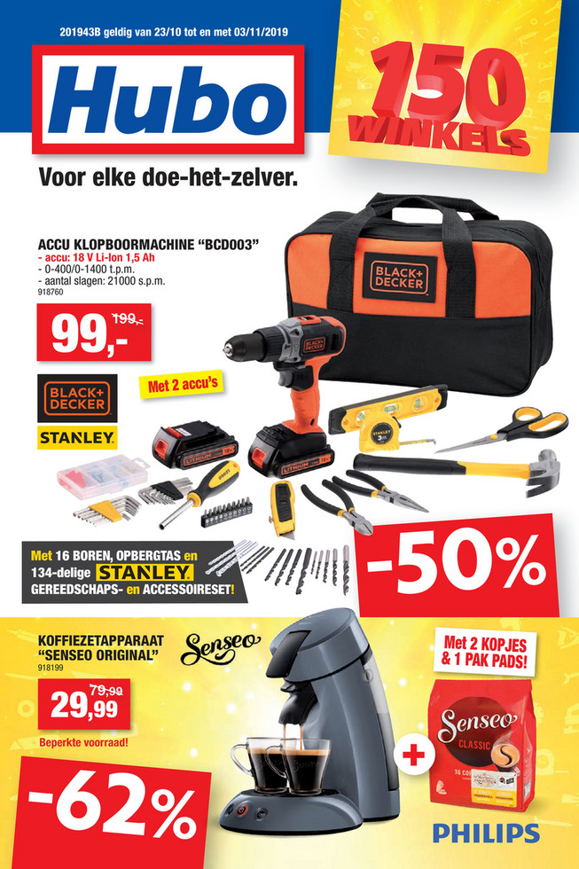 Hubo folder van 23/10/2019 tot 03/11/2019 - Weekpromoties 43