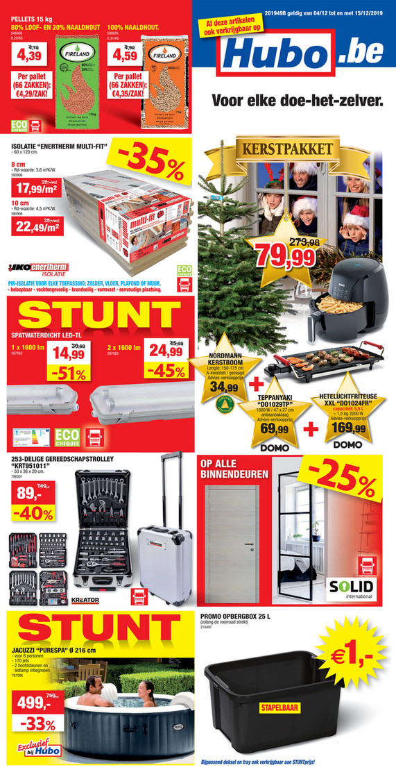 Hubo folder van 04/12/2019 tot 18/12/2019 - Weekpromoties 49