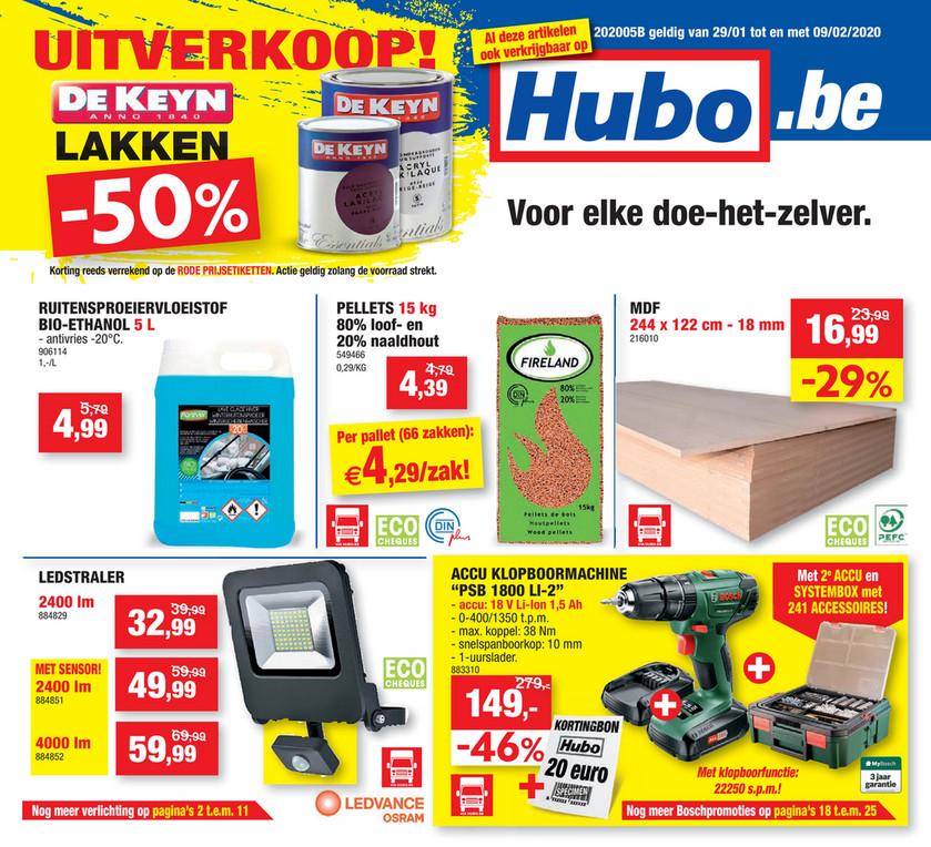 Hubo folder van 29/01/2020 tot 09/02/2020 - Weekpromoties 5