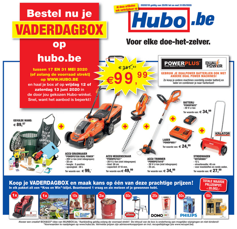 Hubo folder van 20/05/2020 tot 31/05/2020 - Weekpromoties 21