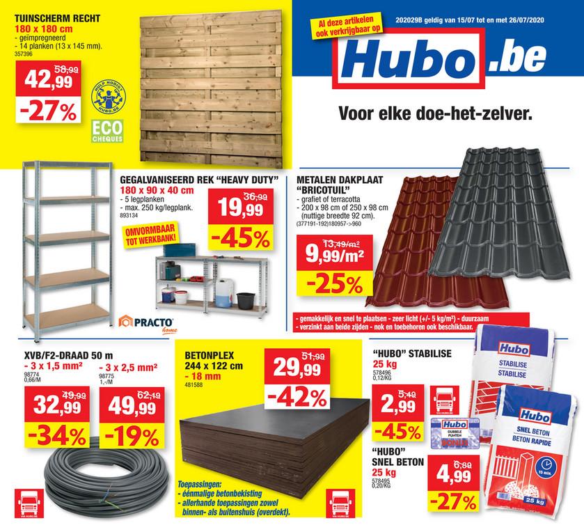 Hubo folder van 15/07/2020 tot 26/07/2020 - Weekpromoties 29b