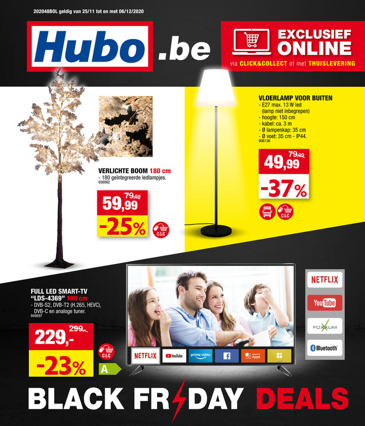 Hubo folder van 25/11/2020 tot 06/12/2020 - Weekpromoties 48