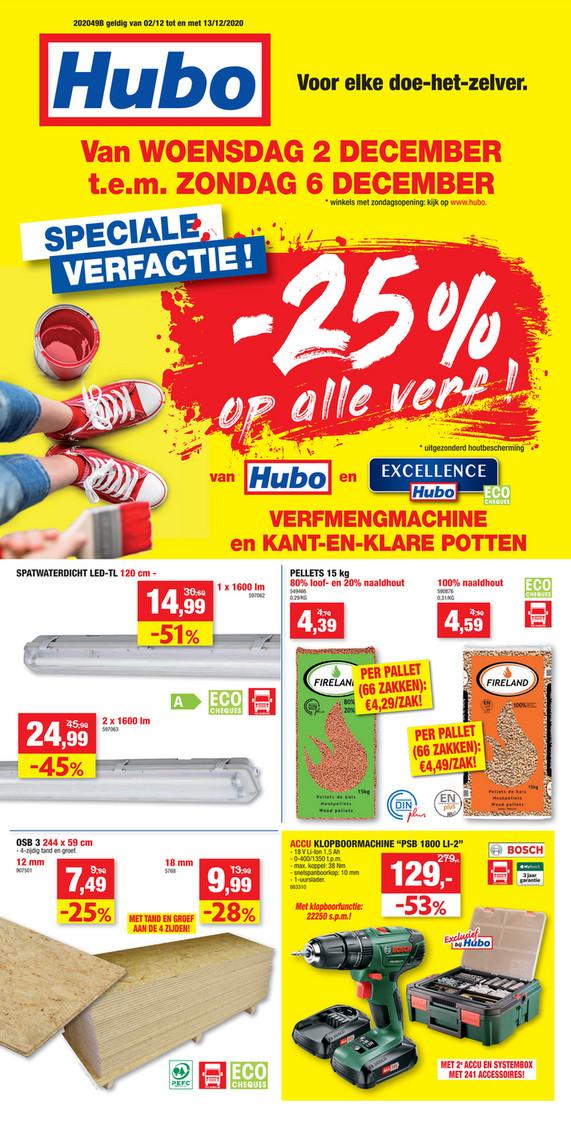 Hubo folder van 02/12/2020 tot 13/12/2020 - Weekpromoties 49