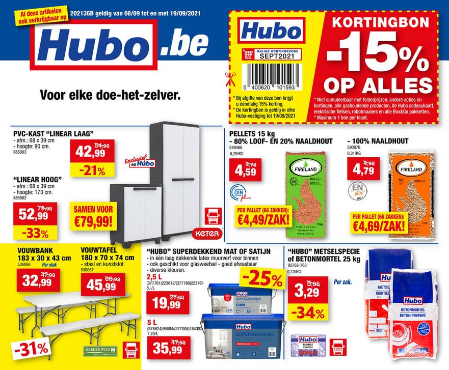 Hubo folder van 08/09/2021 tot 19/09/2021 - Weekpromoties 36