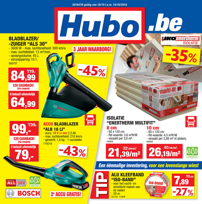 Hubo folder van 10/10/2018 tot 14/10/2018 - Weekpromoties 41