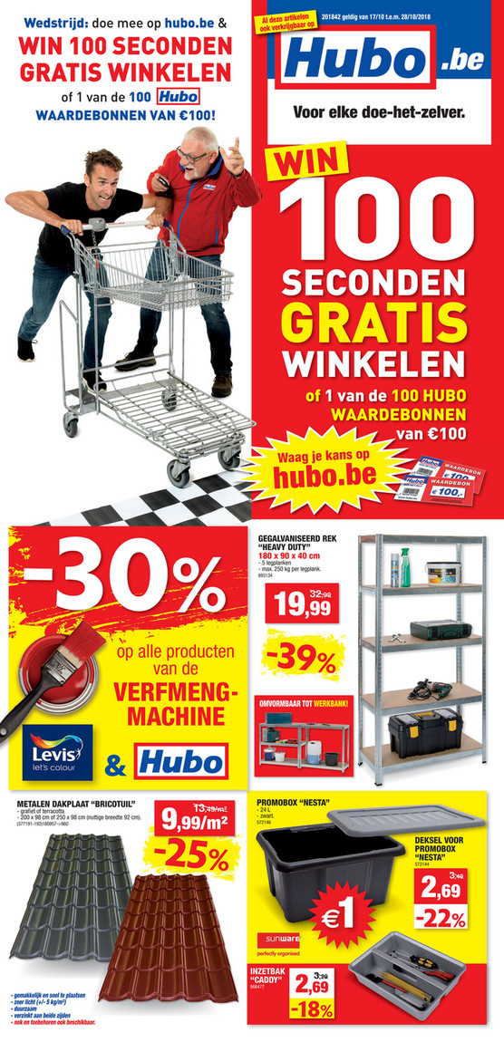 Hubo folder van 17/10/2018 tot 28/10/2018 - Weekpromoties 42