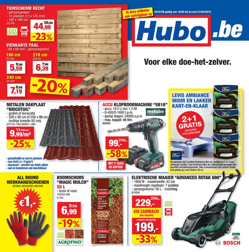 Hubo folder van 10/04/2019 tot 21/04/2019 - Weekpromoties 15