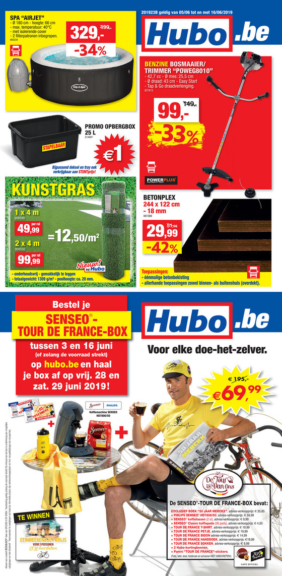 Hubo folder van 05/06/2019 tot 16/06/2019 - Weekpromoties 23