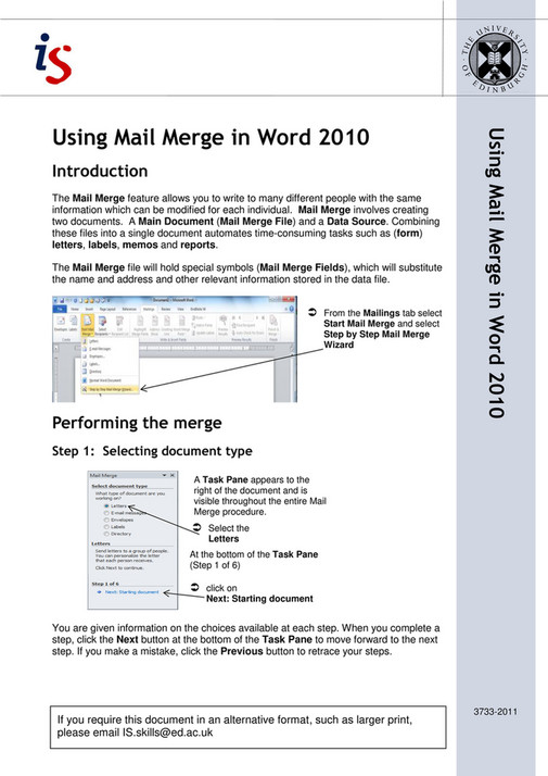 Wapda - mail merge in Microsoft Word - Page 1 - Created with
