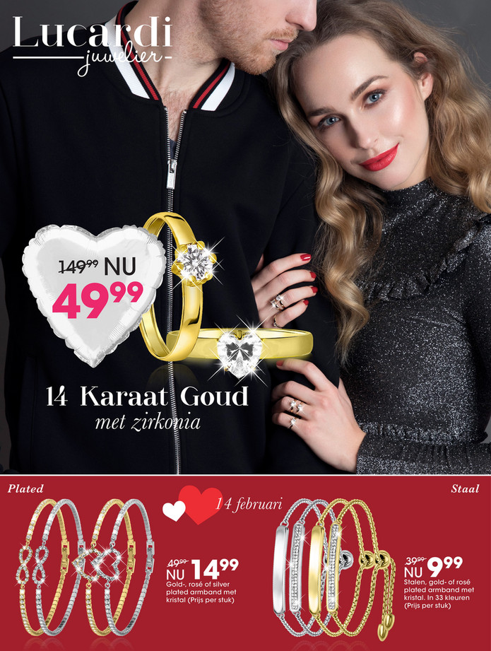 Lucardi folder van 04/02/2018 tot 18/02/2018 - Promo Valentijn