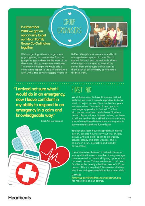 Children's Heartbeat Trust - Heartbeats Issue 1 2019 - Page 18-19