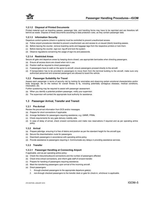 Lufthansa IATA Ground Operations Manual Page 16 17