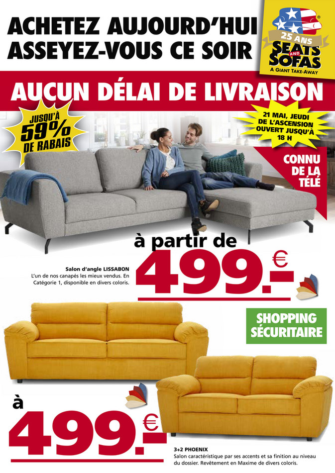 Folder Seats and Sofas du 18/05/2020 au 24/05/2020 - Promotions de la semaine 21