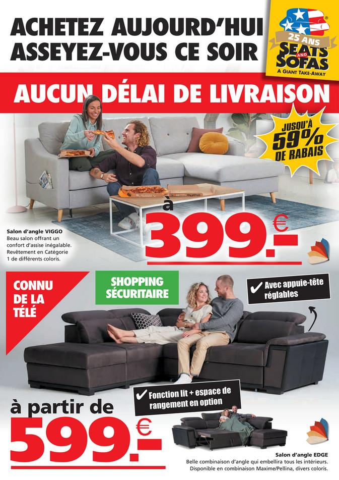 Folder Seats and Sofas du 21/09/2020 au 04/10/2020 - Promotions de la semaine 39
