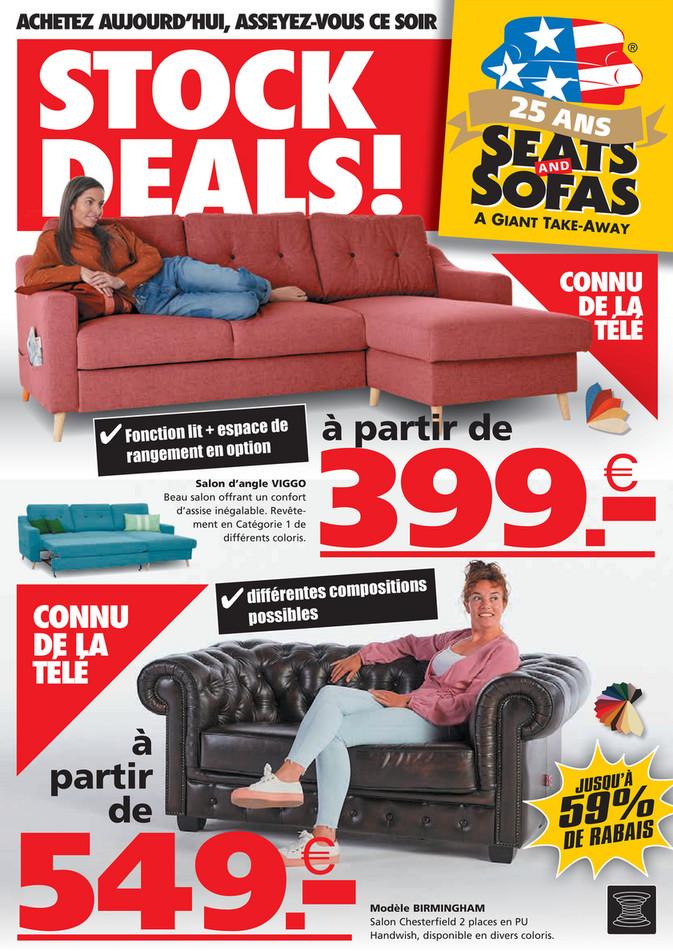 Folder Seats and Sofas du 26/04/2021 au 09/05/2021 - Promotions de la semaine 17-18