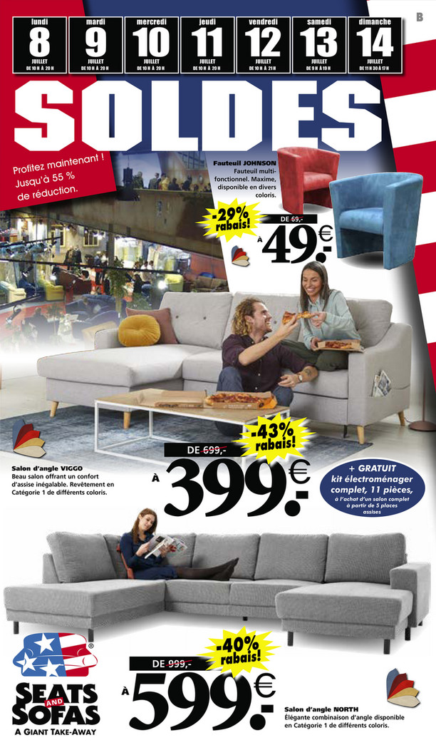 Folder Seats and Sofas du 08/07/2019 au 14/07/2019 - Promotions de la semaine 28