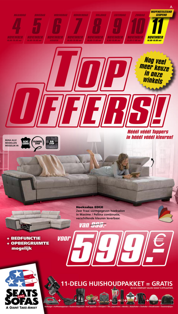 Seats and Sofas folder van 04/11/2019 tot 10/11/2019 - Weekpromoties 45