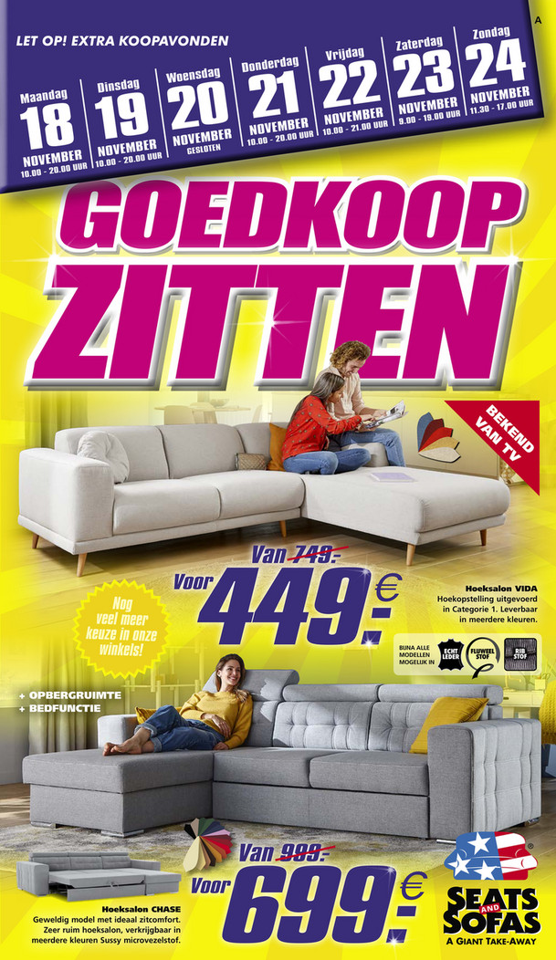 Seats and Sofas folder van 18/11/2019 tot 24/11/2019 - Weekpromoties 47