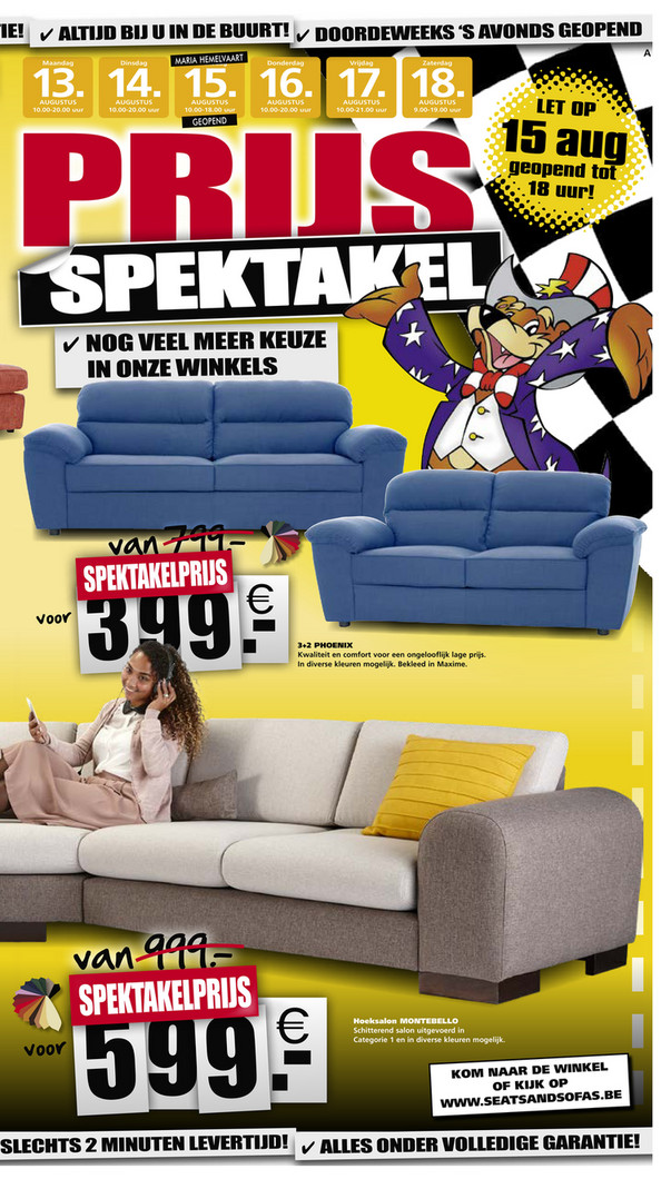 Seats and Sofas folder van 12/08/2018 tot 18/08/2018 - Weekdeals