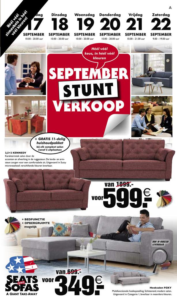 Seats and Sofas folder van 16/09/2018 tot 22/09/2018 - Promoties van de week 38