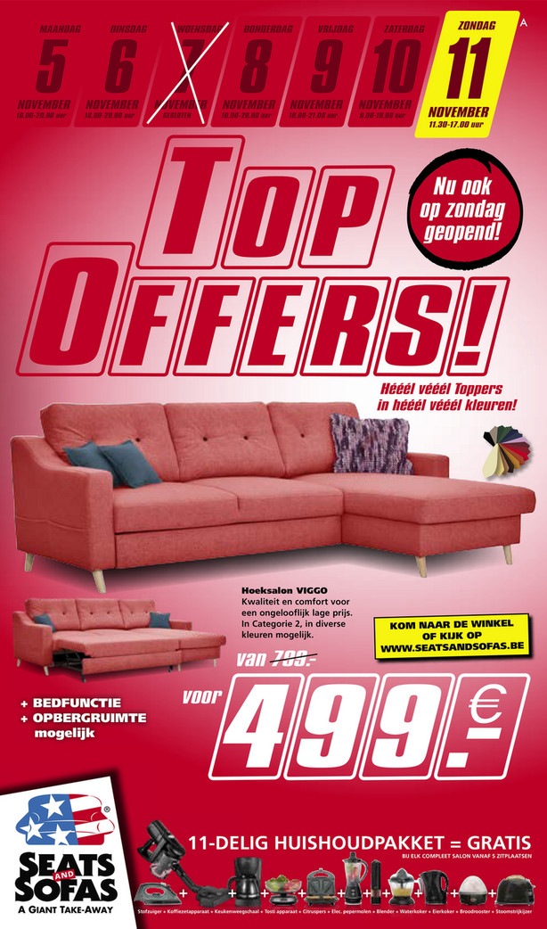 Seats and Sofas folder van 05/11/2018 tot 11/11/2018 - Weekpromoties 45