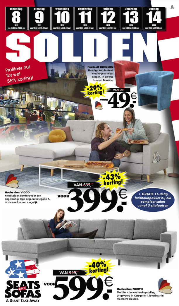 Seats and Sofas folder van 08/07/2019 tot 14/07/2019 - Weekpromoties 28